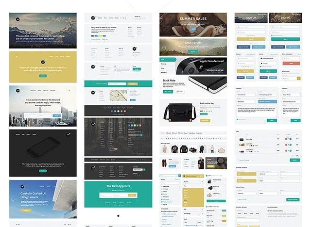 Edge Web UI Kit Free PSD