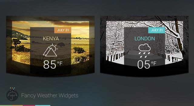 Fancy Weather Widgets Free PSD