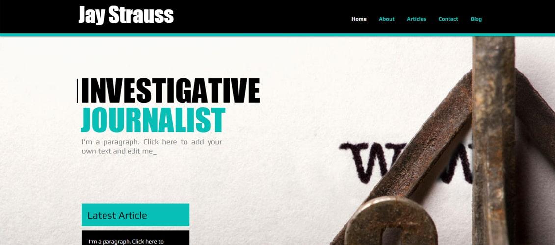 Journalist Marketing Website Template