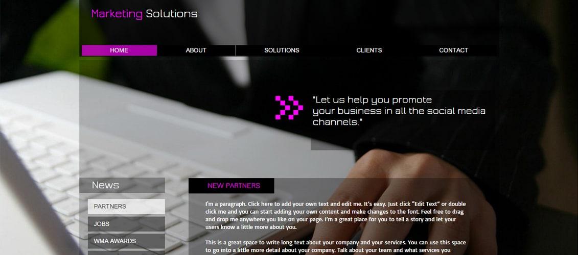 Marketing Strategy Marketing Website Template