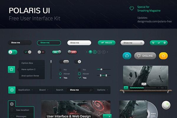 Polaris UI Kit Free PSD