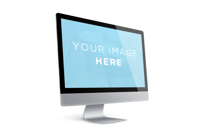 Showcase Mac Screen Template Free PSD
