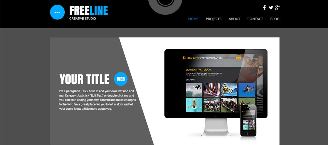 Web Studio Marketing Website Template