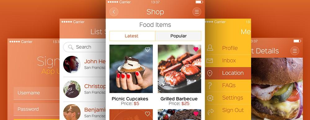 Wow App UI Kit Free PSD