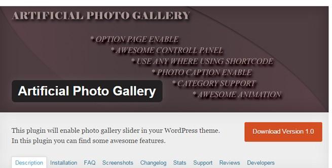 Artificial Photo Gallery