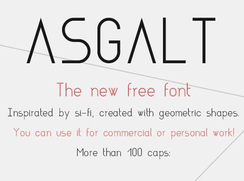 Asgalt Free Font