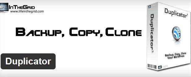 Duplicator-Duplicate your site