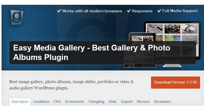Easy Media Gallery - The Best Gallery & Photo Album Plugin