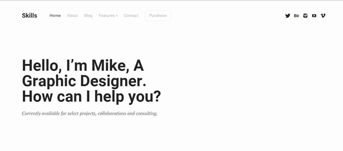 Skills - Portfolio for Freelancers & Agencies