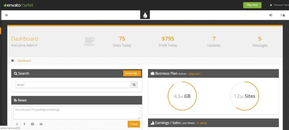FreshUI - Premium Web App and Admin Template