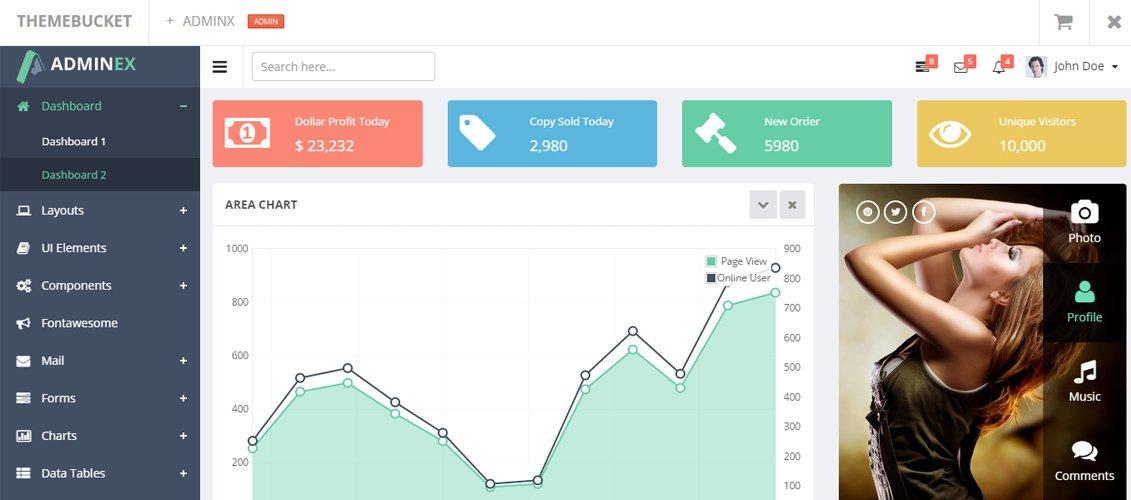 AdminEx - Bootstrap 3 Responsive Admin Template