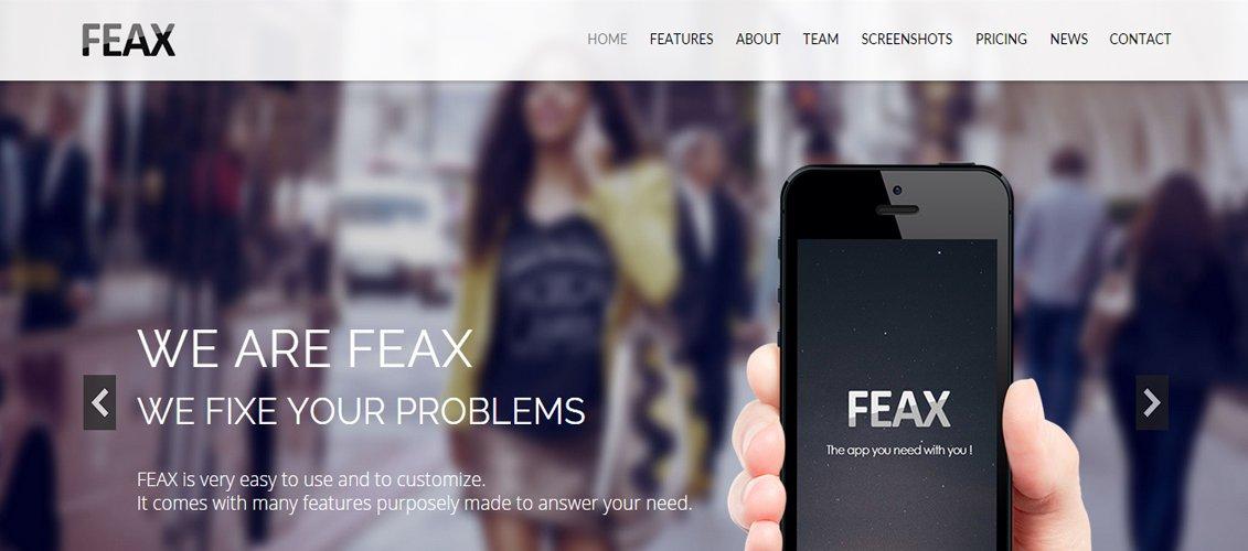 Feax - App Landing Page Template