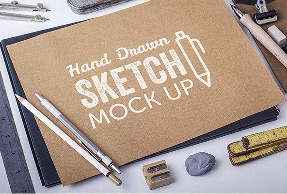 Hand Drawn Sketch MockUps