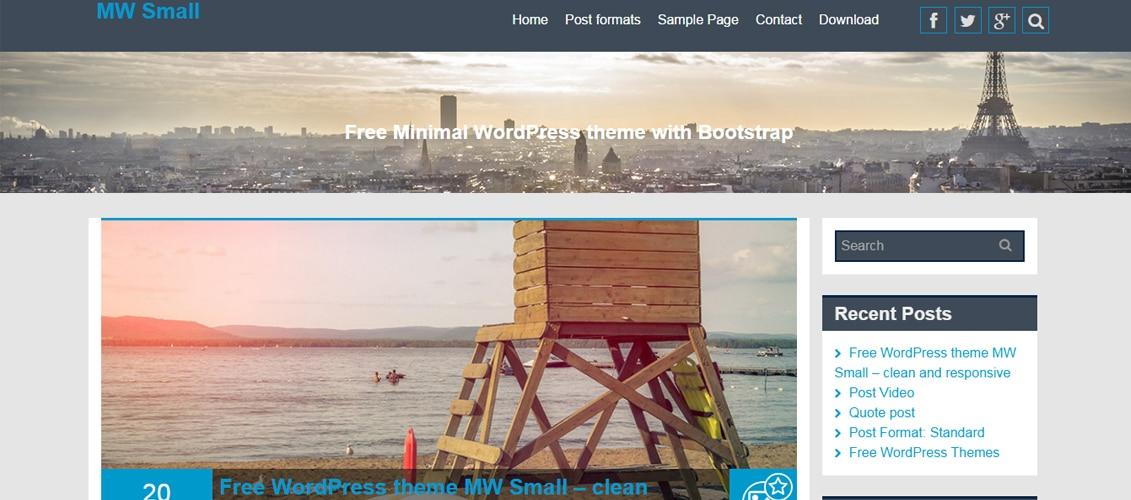 MW Small Blog - Free Responsive WordPress Theme