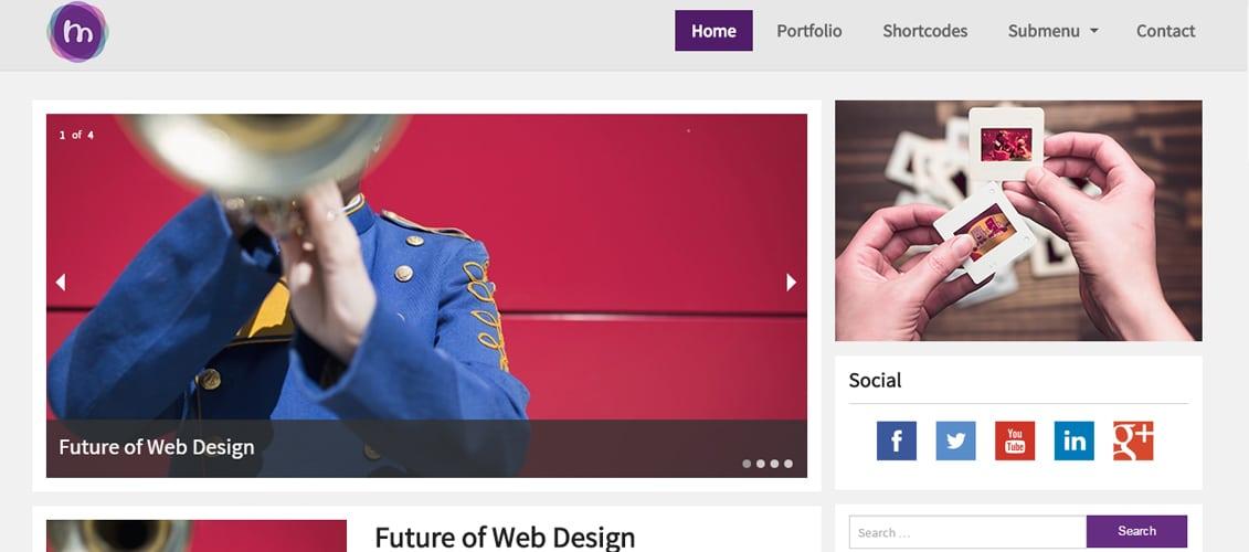 MioMio Fresh Free WordPress Themes