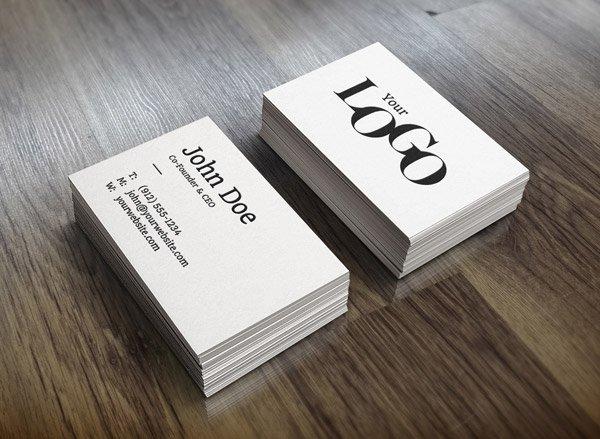Realistic Business Card Mockup