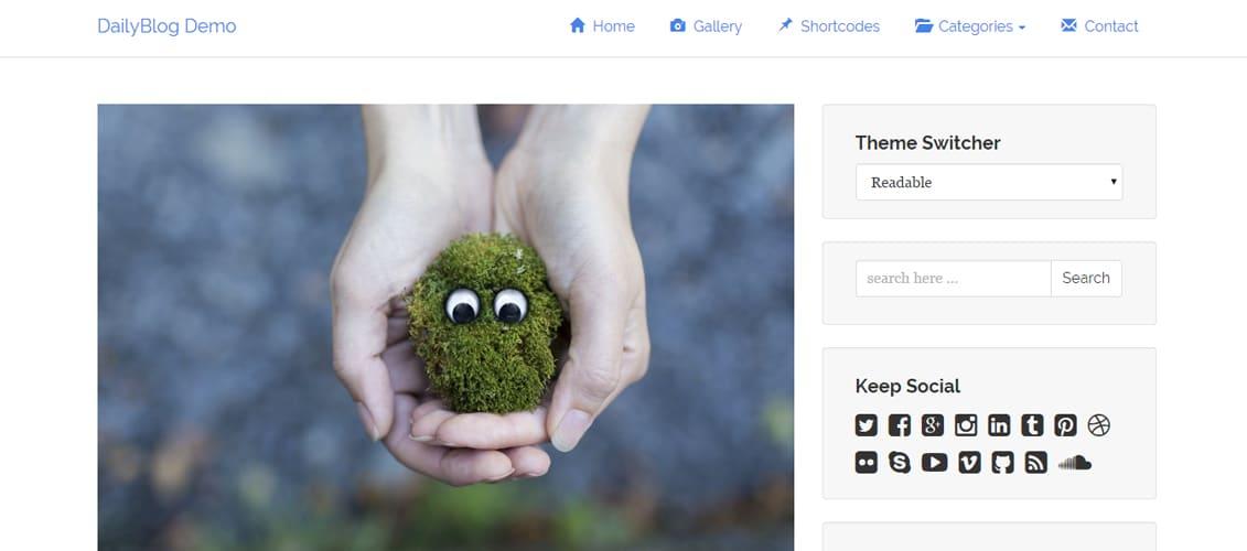 TA DailyBlog Simple & Clean Free WordPress Theme