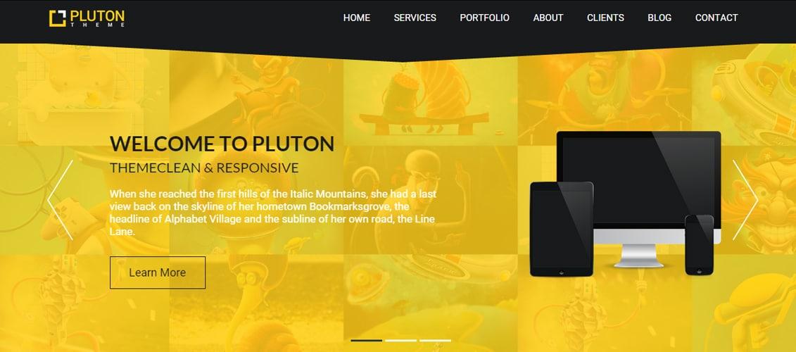 TA Pluton - Free One Page Parallax WordPress Theme