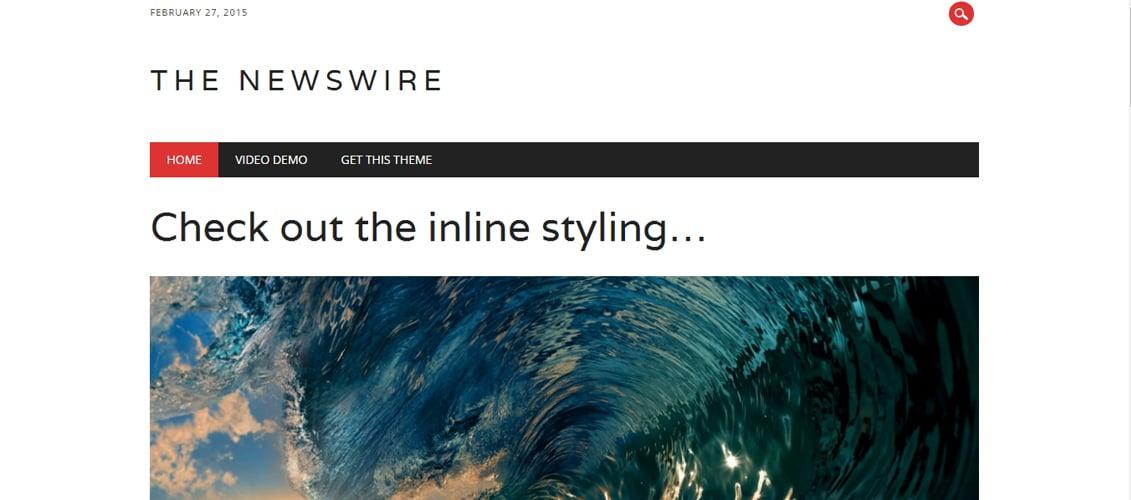 The Newswire - Free WordPress Theme