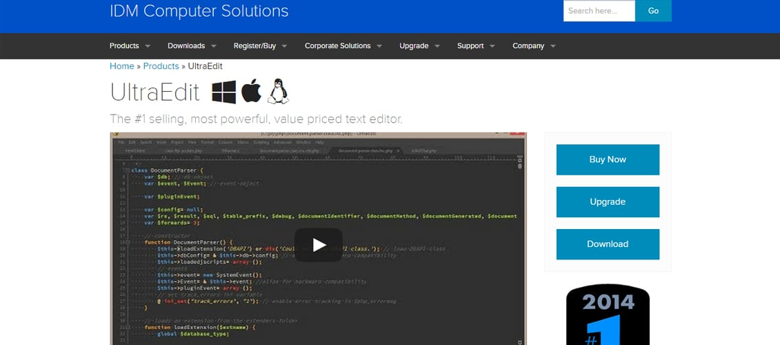 UltraEdit free code editor