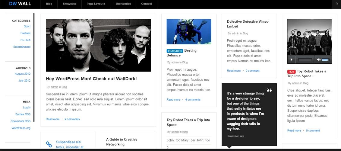 WallPress - Free WordPress Theme