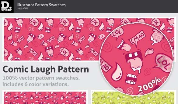 Comic Laugh Pattern Illustrator Add-on