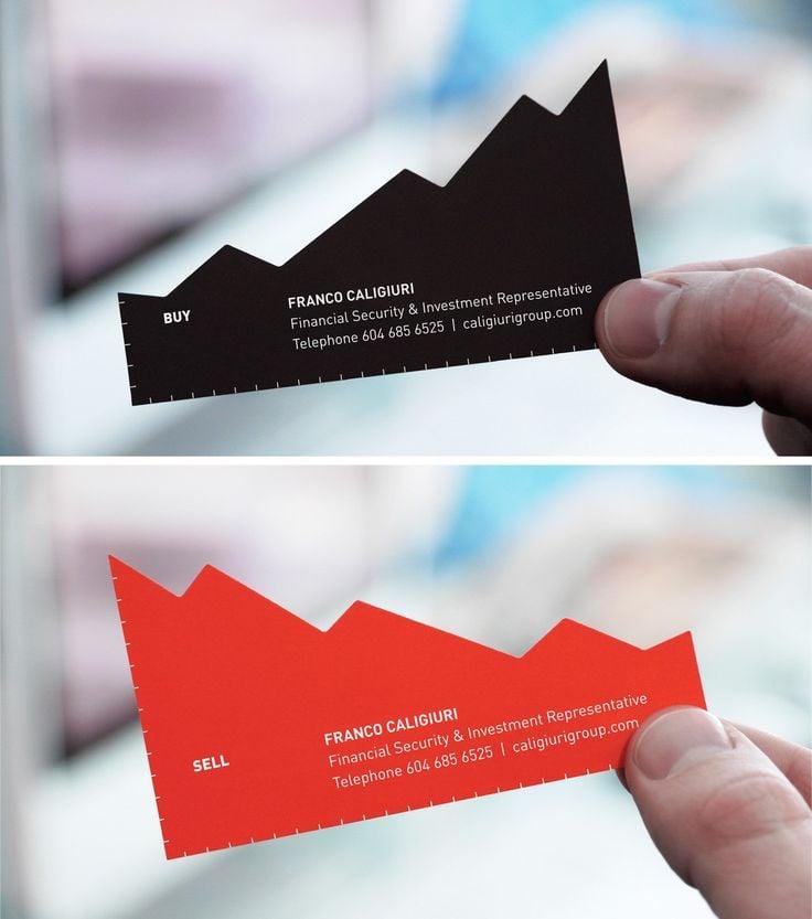 Franco Caligiuri Financial & Investment Representative Chart business card