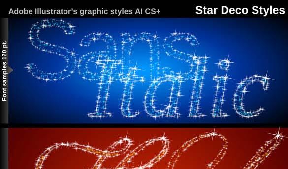 Illustrator Graphic Styles Stars Deco Illustrator Add-on