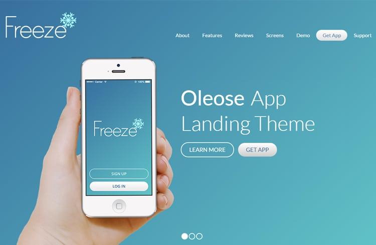 OLEOSE MOBILE APP LANDING PAGE Free Design Goodies