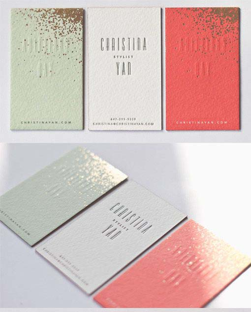 Simple, modern, minimalist letterpress business card