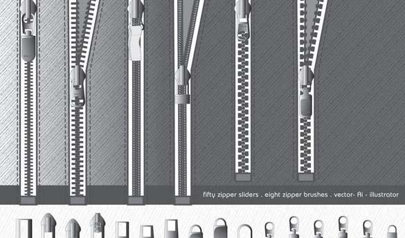 Zipper Brushes and Sliders Illustrator Add-on