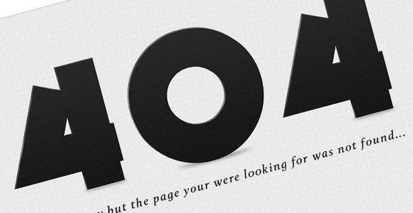 404 Error Page (PSD)