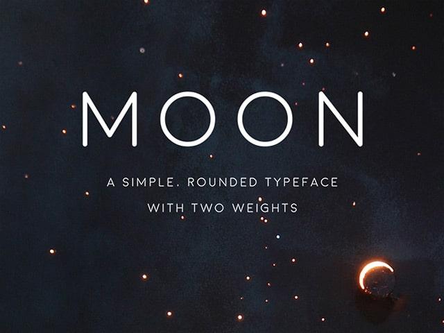 Moon free font