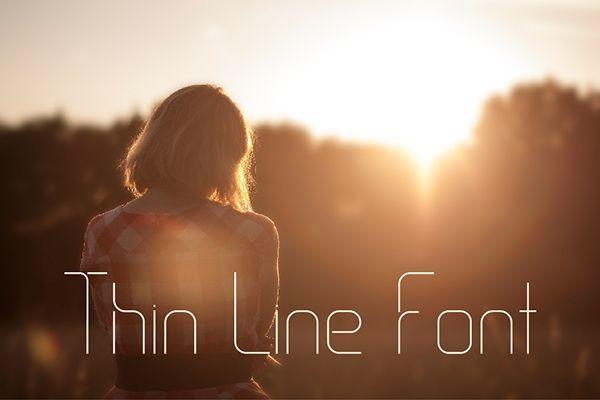 Thin Line Font Free