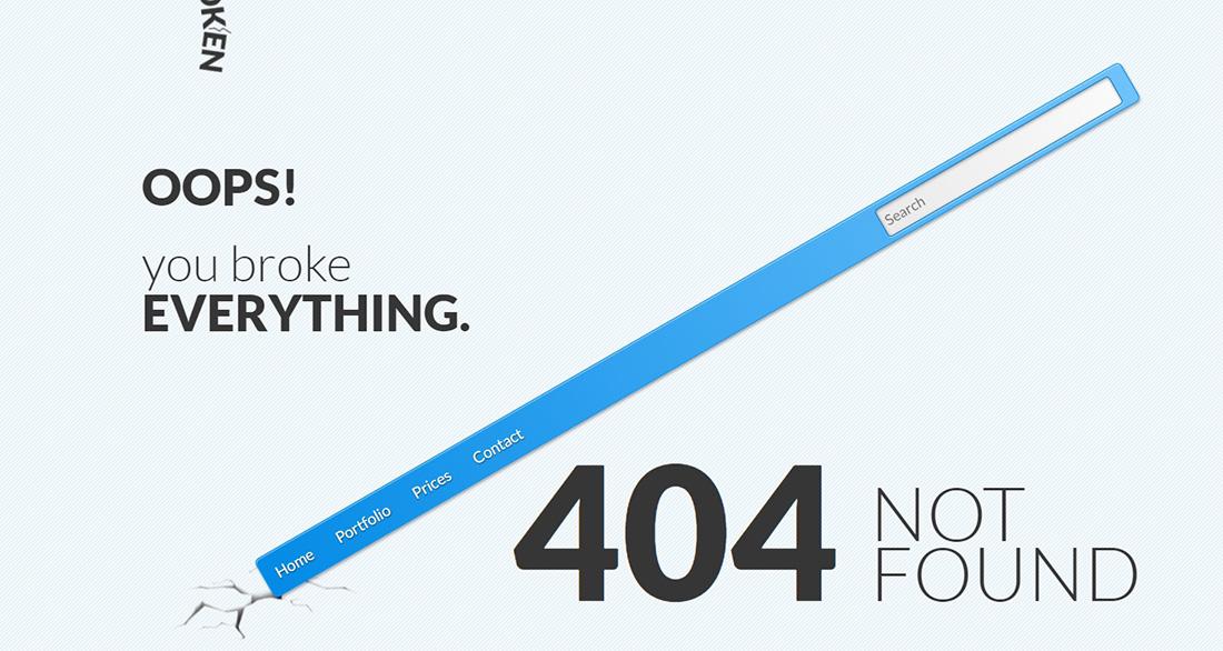 Broken - 404 Error Page