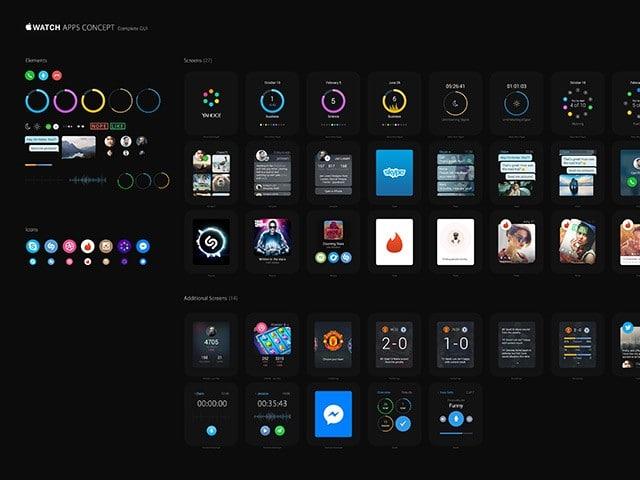 Apple Watch apps UI