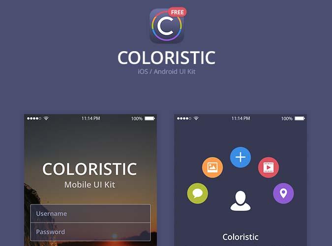 Coloristic UI Kit Free