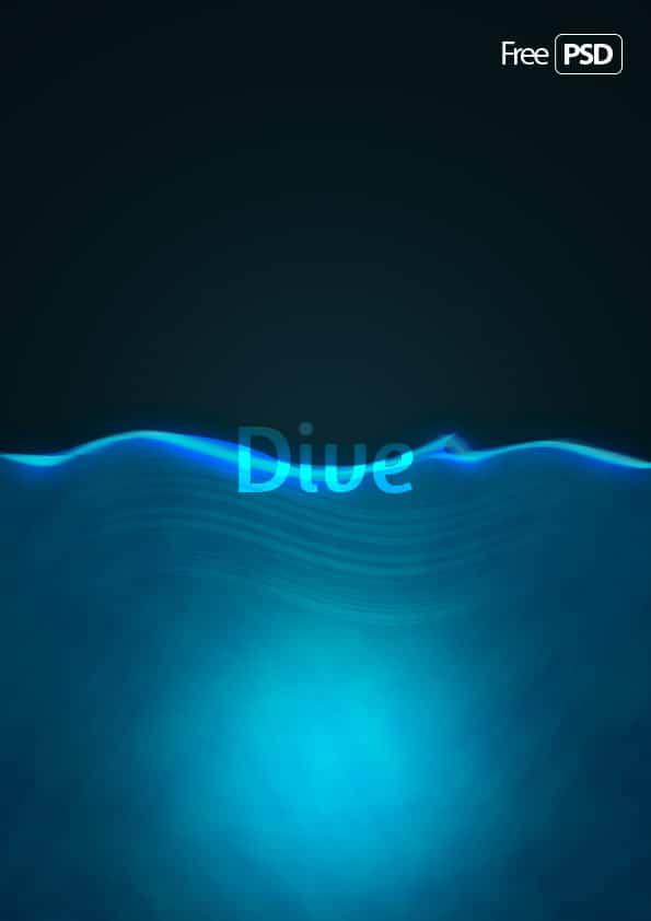 Blue Dive Background PSD