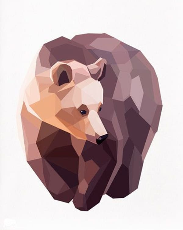 Geometric-illustration-Brown-Bear-Animal-by-TinyKiwiCreations