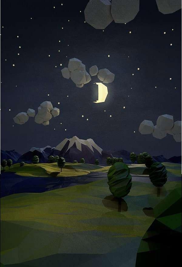 Low-Poly-Night-Scene