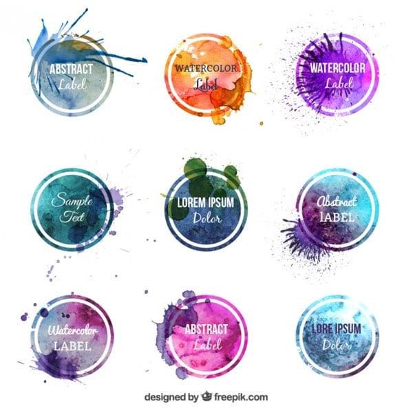 Colorful-watercolor-labels