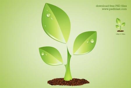 Green-plant-environment-symbol-psd