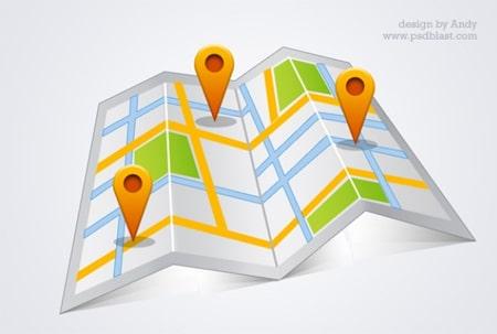High-resolution-google-map-psd