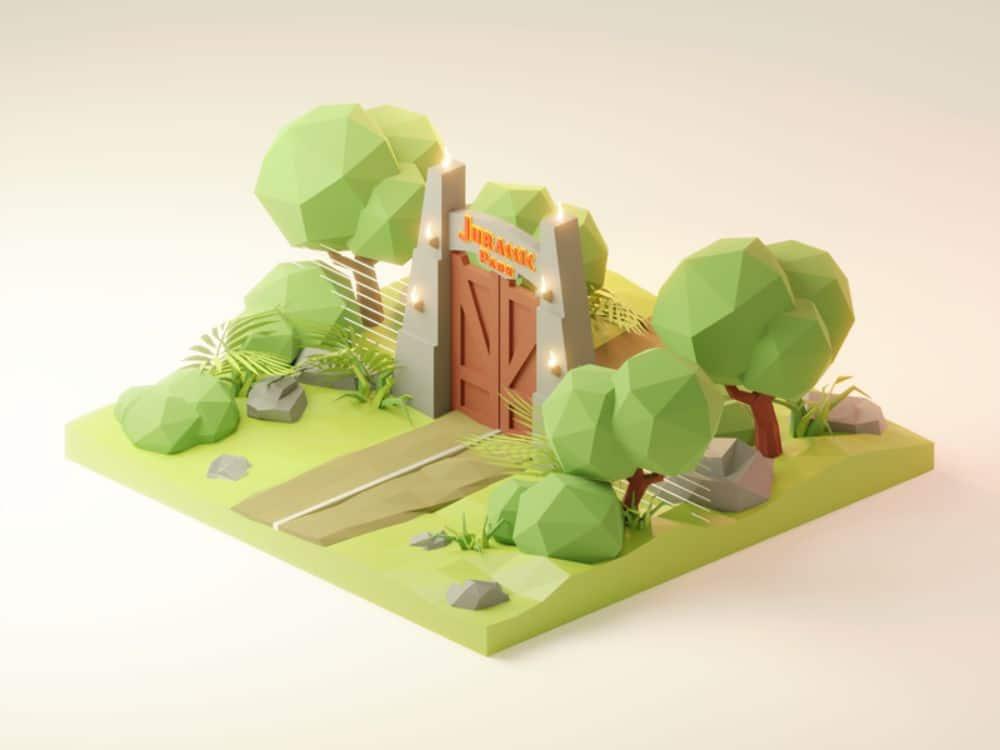 Jurassic Park Diorama by Roman Klco