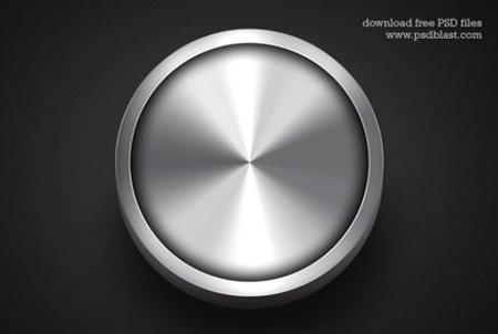 Metallic-web-buttons-on-dark-background