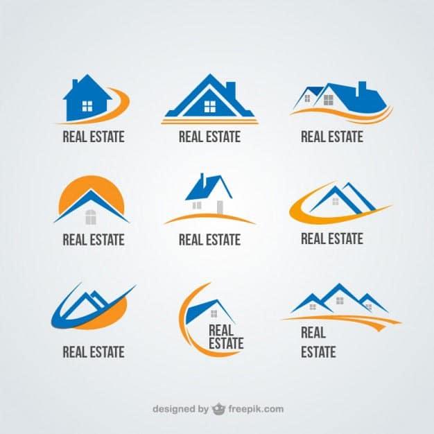 Real estate logos collection