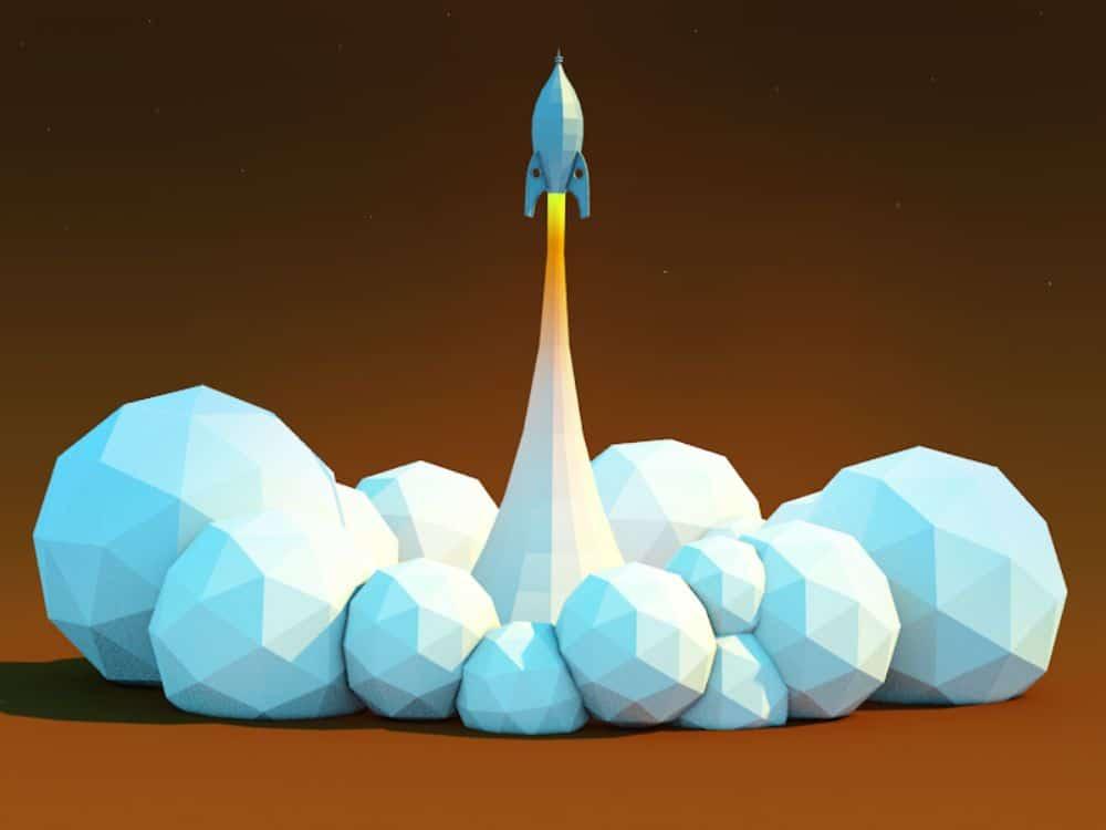 Rocket Lift Off by Joe Ski