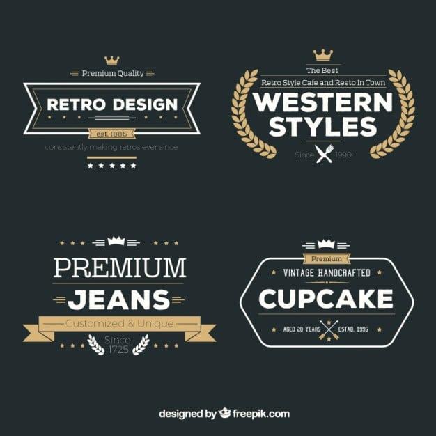 Variety retro badges