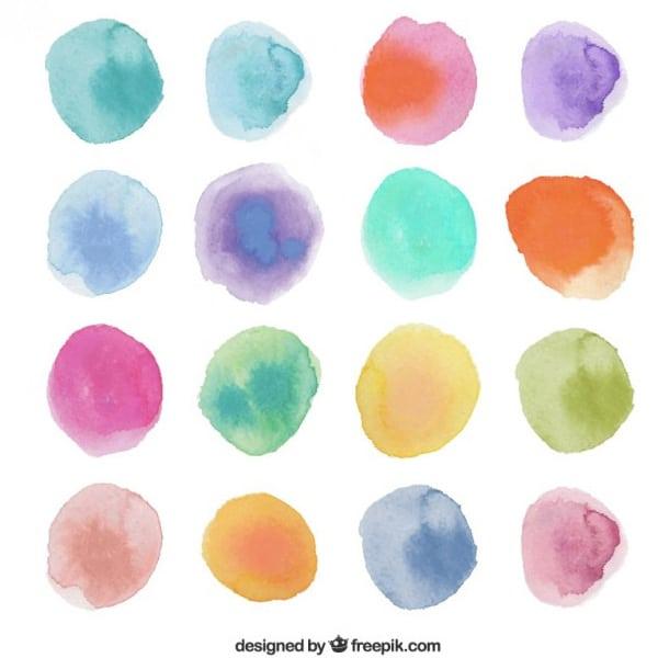 Watercolor-dots