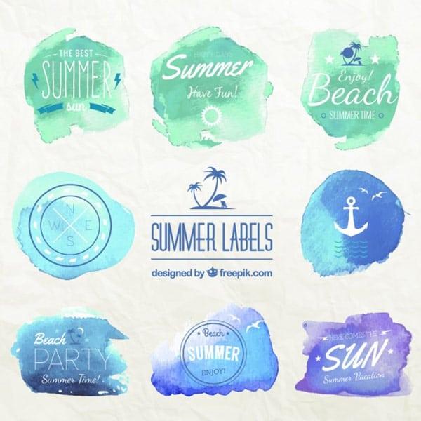 Watercolor-summer-labels
